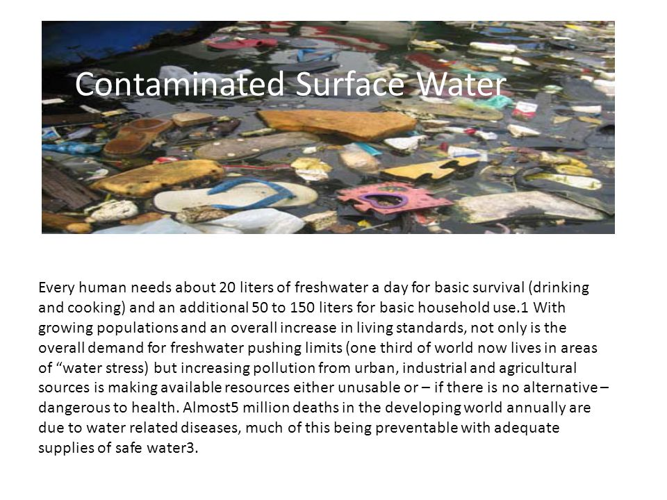 Contaminated Surface Water