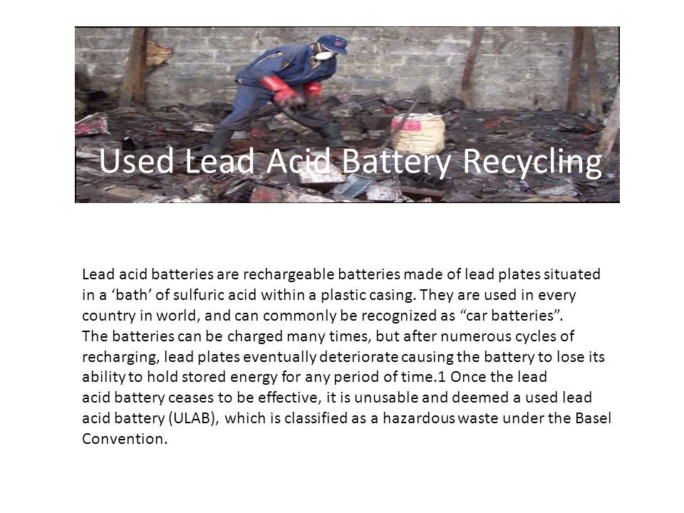 Used Lead Acid Battery Recycling