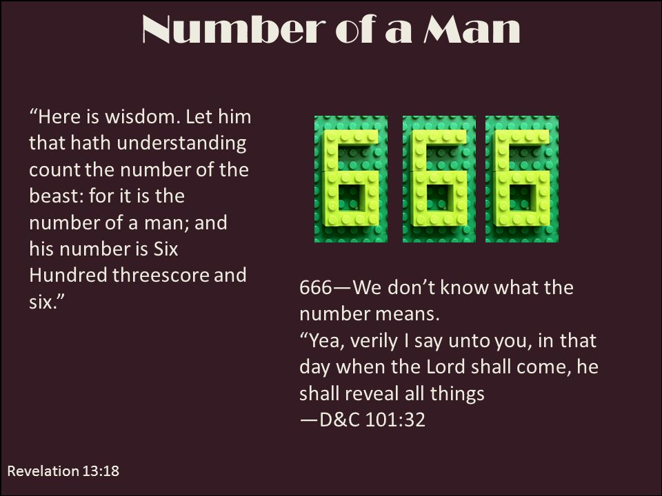 Number of a Man