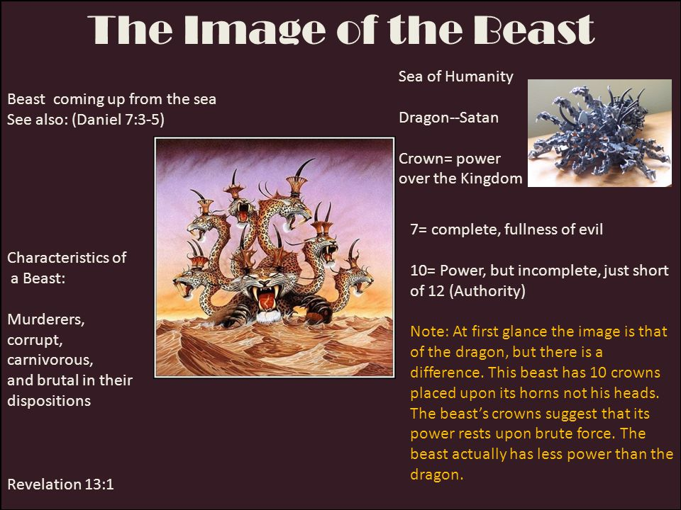 The Image of the Beast Sea of Humanity Dragon--Satan