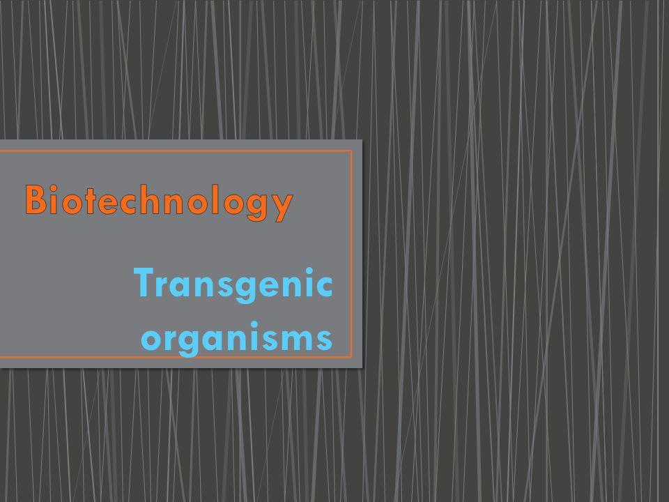 Biotechnology Transgenic organisms