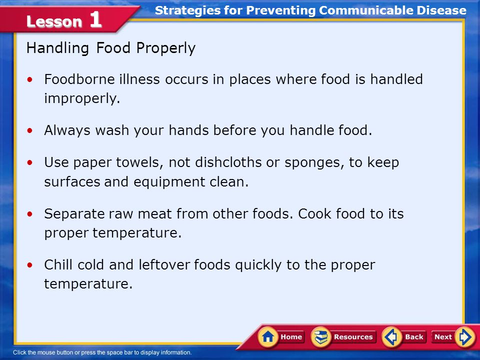 Strategies for Preventing Communicable Disease