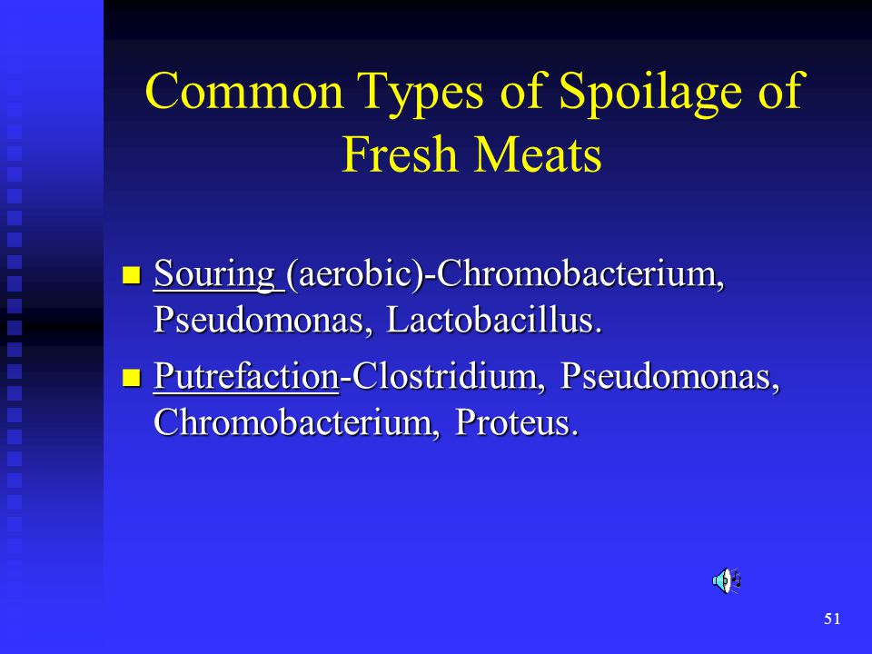 Common Types of Spoilage of Fresh Meats