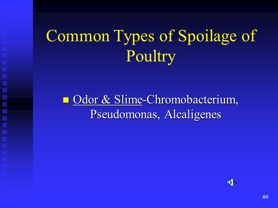 Common Types of Spoilage of Poultry