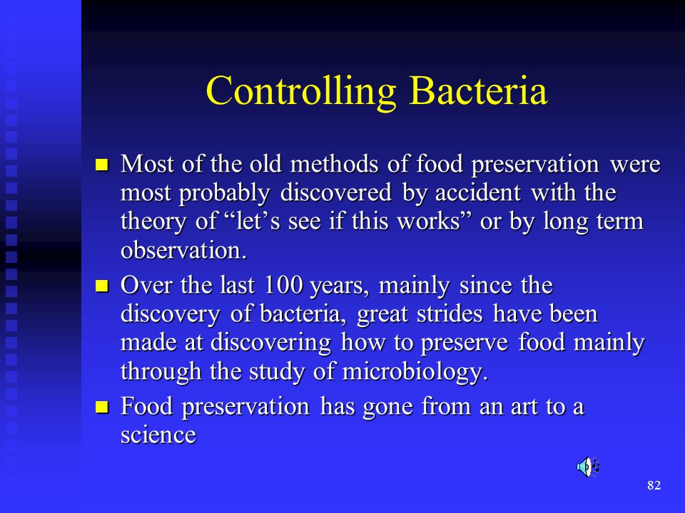Controlling Bacteria