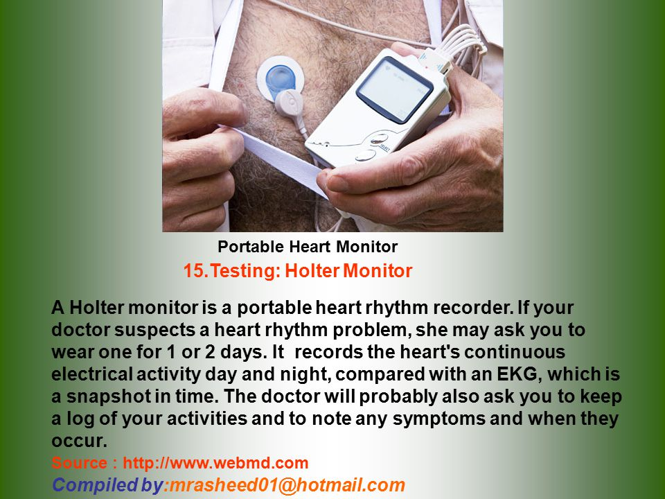 15.Testing: Holter Monitor