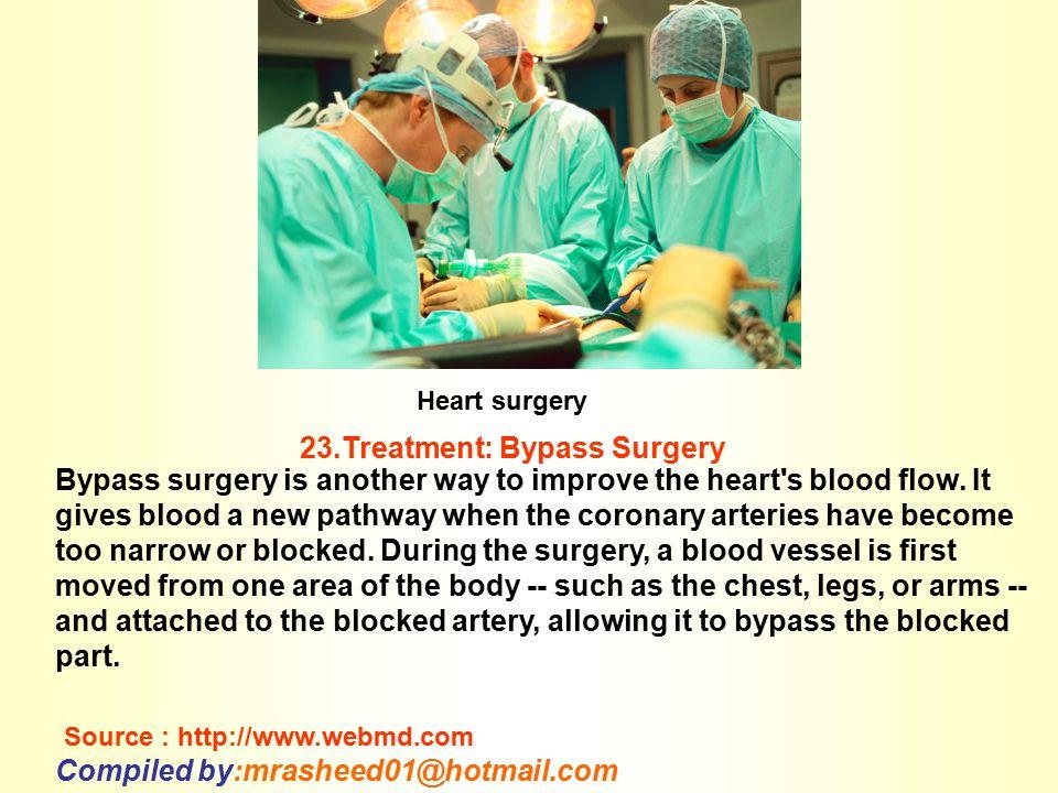 23.Treatment: Bypass Surgery