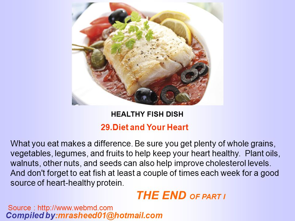 THE END OF PART I 29.Diet and Your Heart