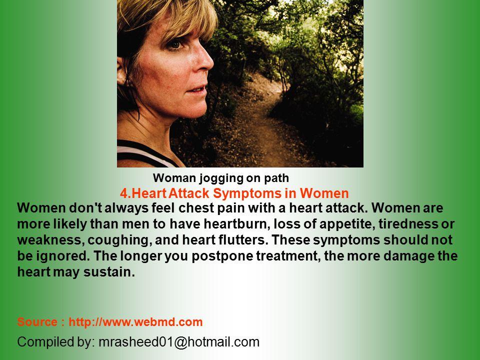 4.Heart Attack Symptoms in Women