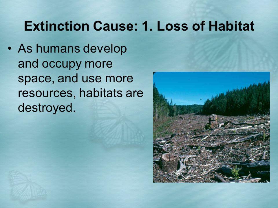 Extinction Cause: 1. Loss of Habitat
