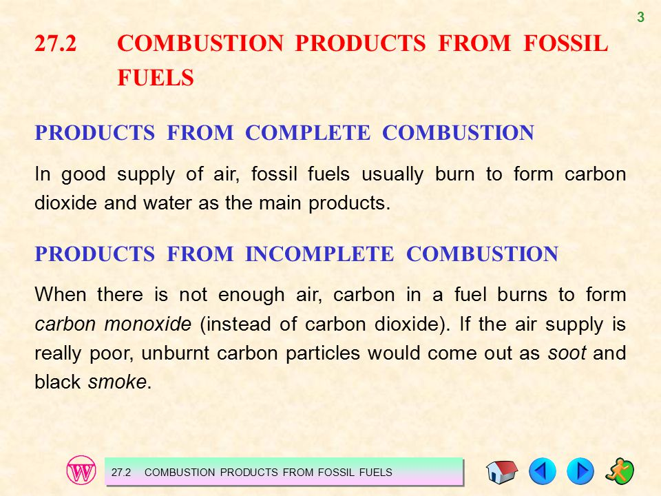 27.2 COMBUSTION PRODUCTS FROM FOSSIL FUELS