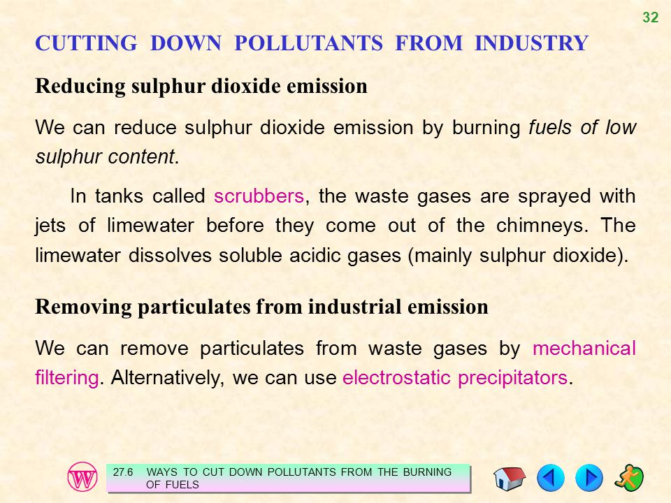 CUTTING DOWN POLLUTANTS FROM INDUSTRY