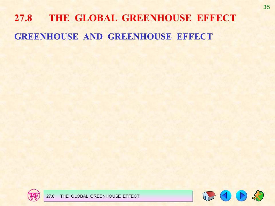 27.8 THE GLOBAL GREENHOUSE EFFECT