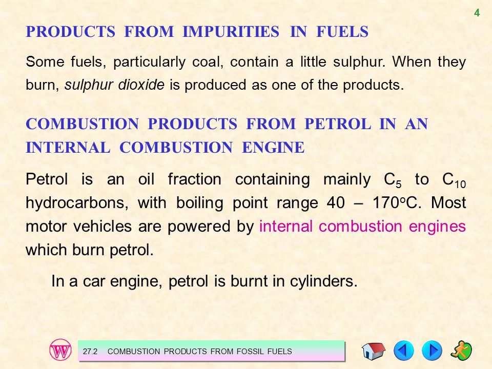 PRODUCTS FROM IMPURITIES IN FUELS