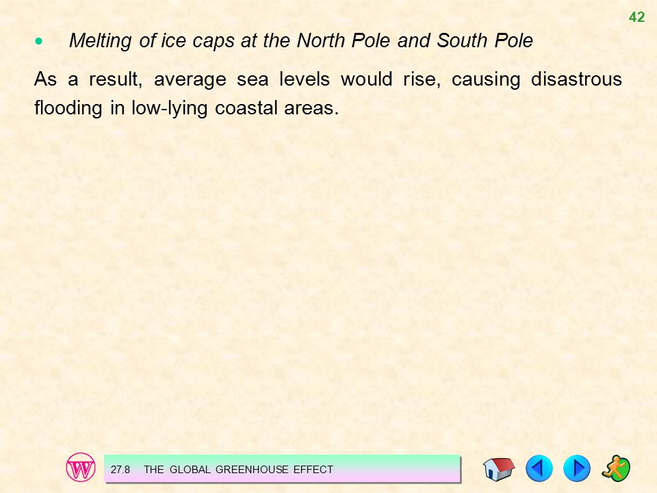  Melting of ice caps at the North Pole and South Pole