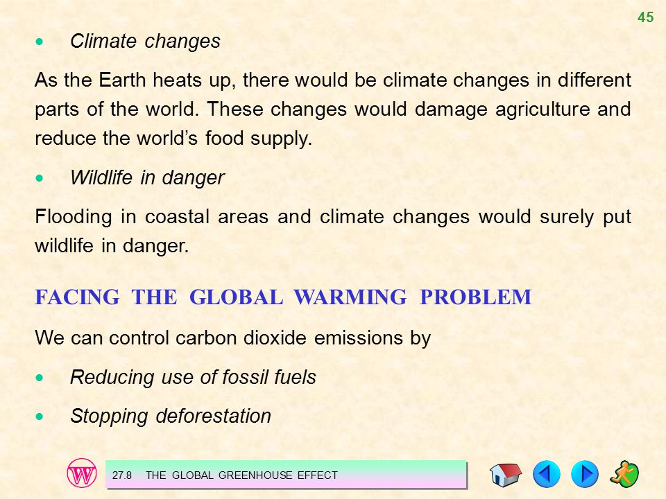FACING THE GLOBAL WARMING PROBLEM