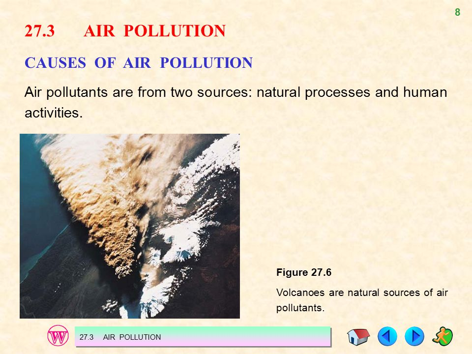 27.3 AIR POLLUTION CAUSES OF AIR POLLUTION