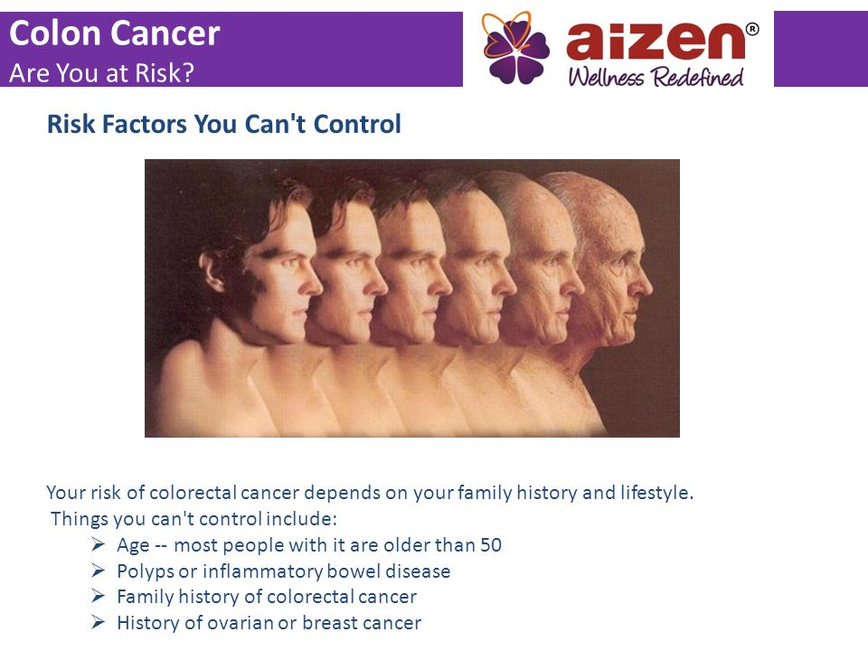 Colon Cancer Are You at Risk Risk Factors You Can t Control