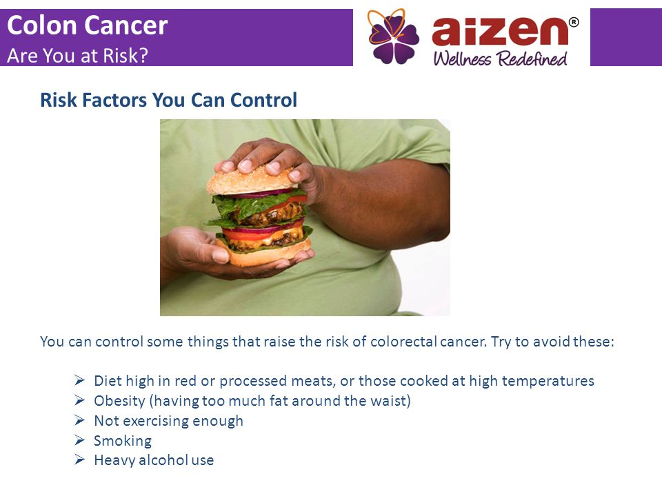 Colon Cancer Are You at Risk Risk Factors You Can Control