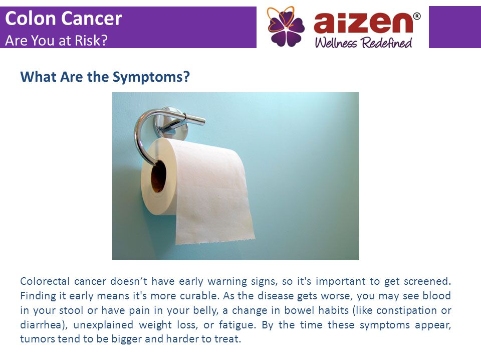 Colon Cancer Are You at Risk What Are the Symptoms
