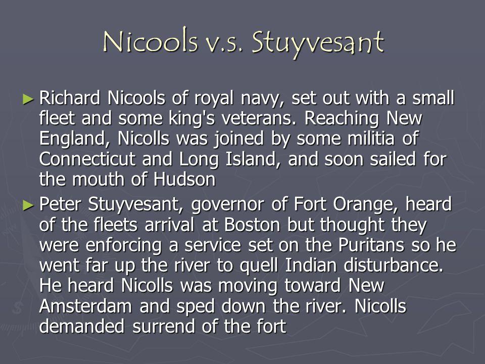 Nicools v.s. Stuyvesant