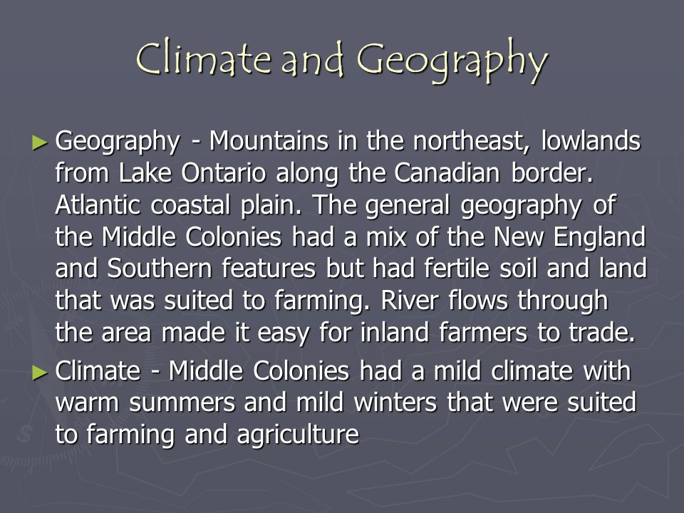 Climate and Geography