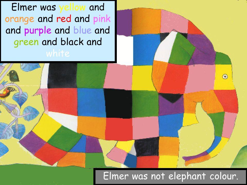 Elmer was not elephant colour.
