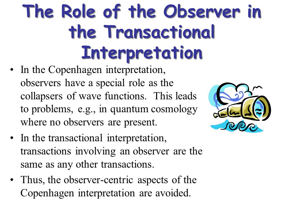 The Role of the Observer in the Transactional Interpretation