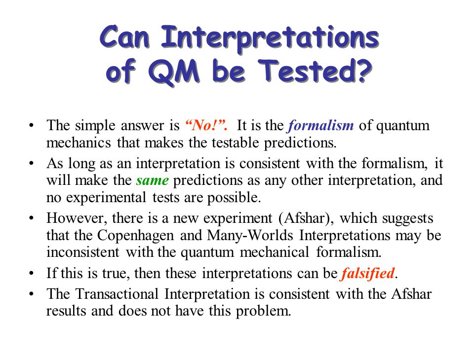 Can Interpretations of QM be Tested