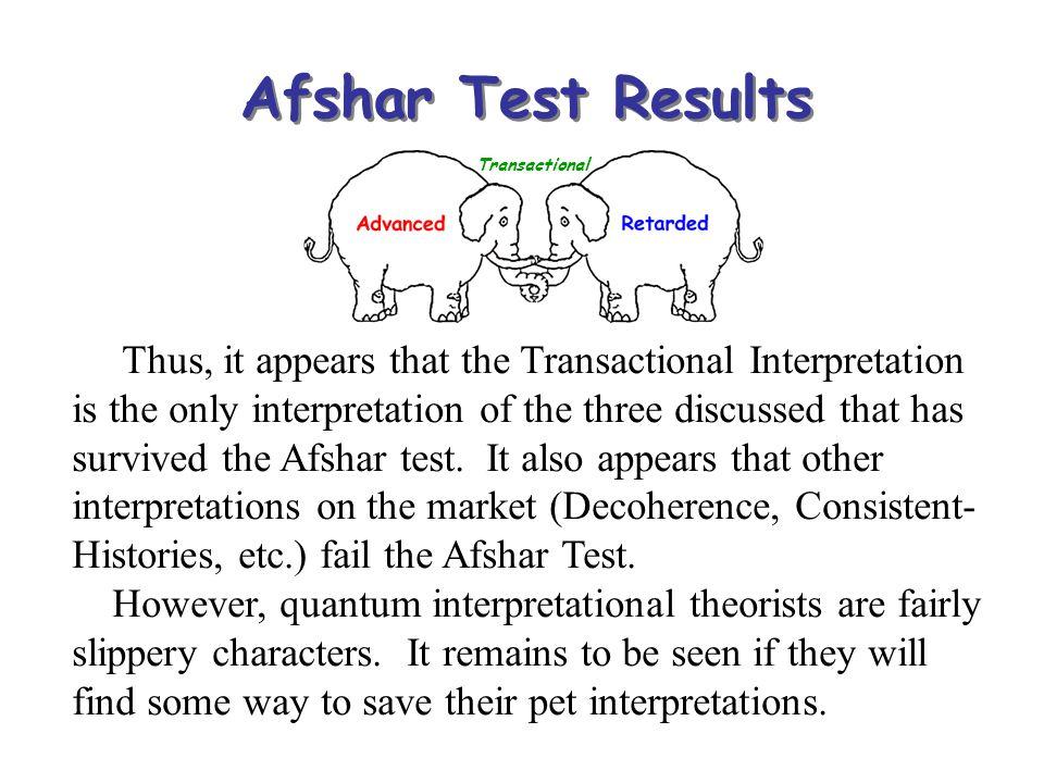 Afshar Test Results Transactional.