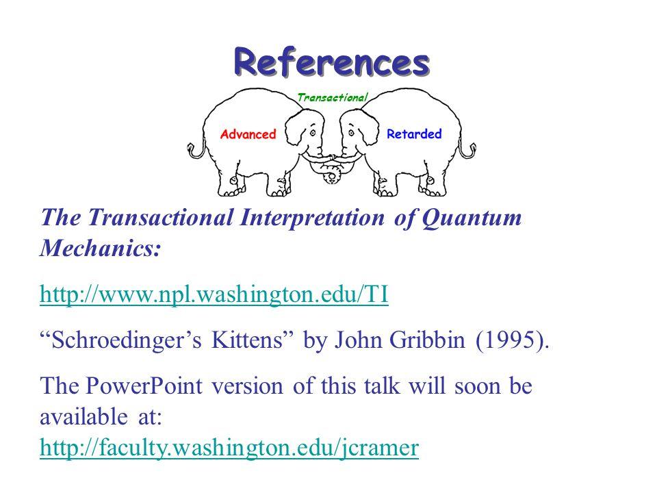 References The Transactional Interpretation of Quantum Mechanics: