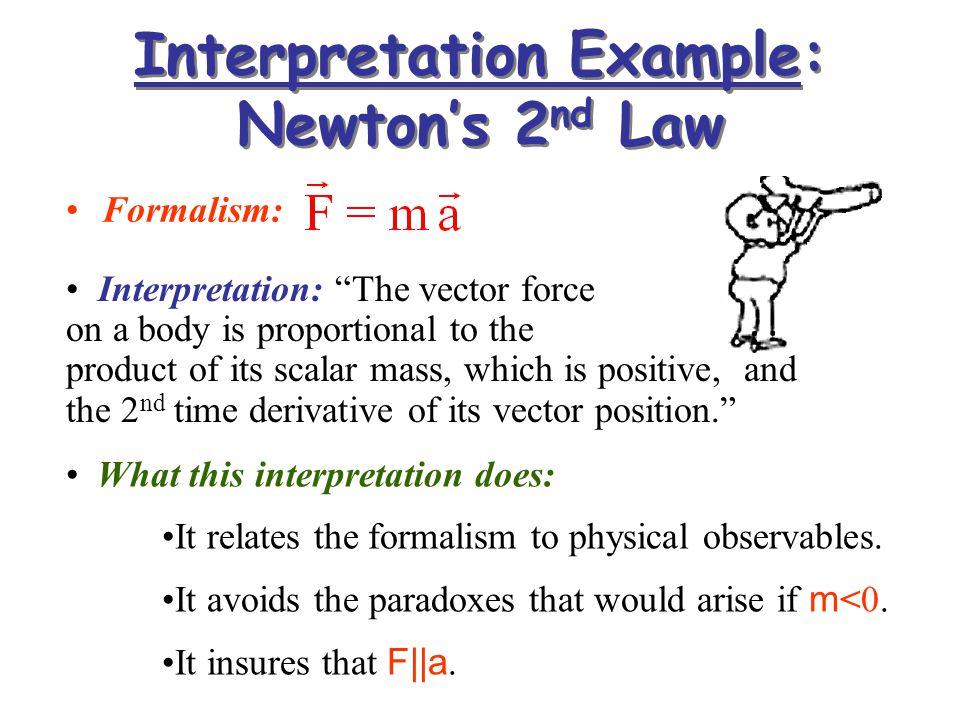 Interpretation Example: Newton's 2nd Law