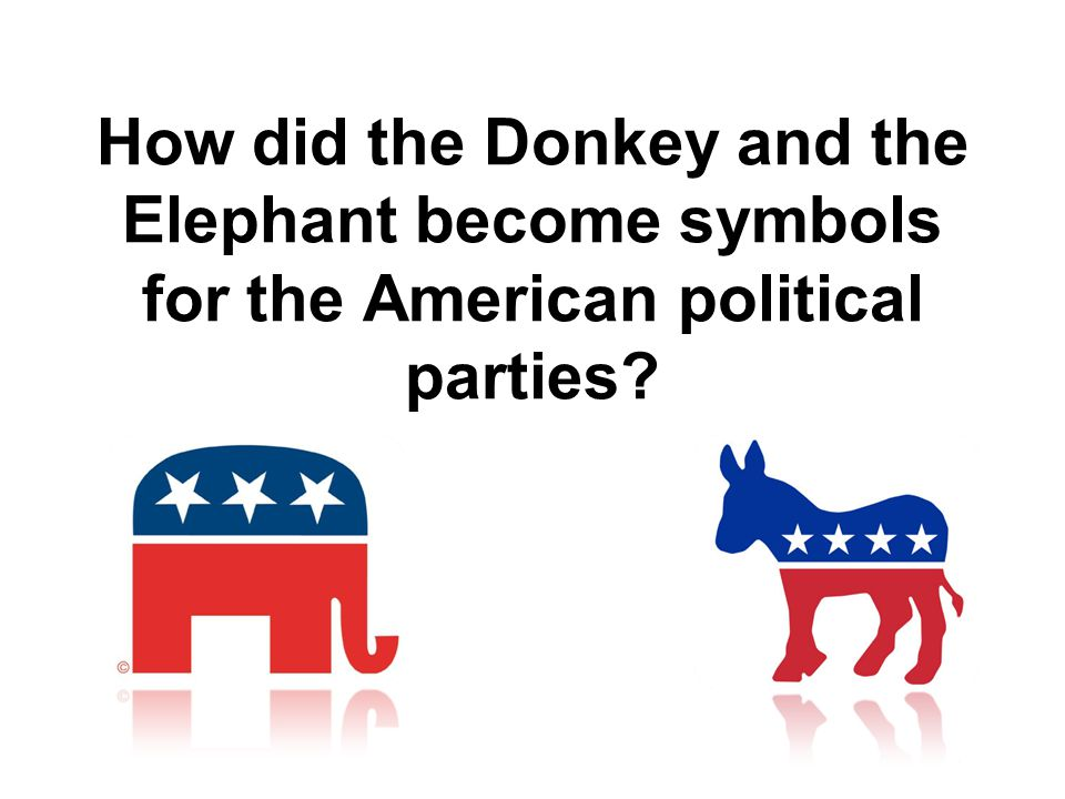 How did the Donkey and the Elephant become symbols for the American political parties