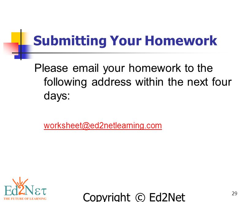 Submitting Your Homework