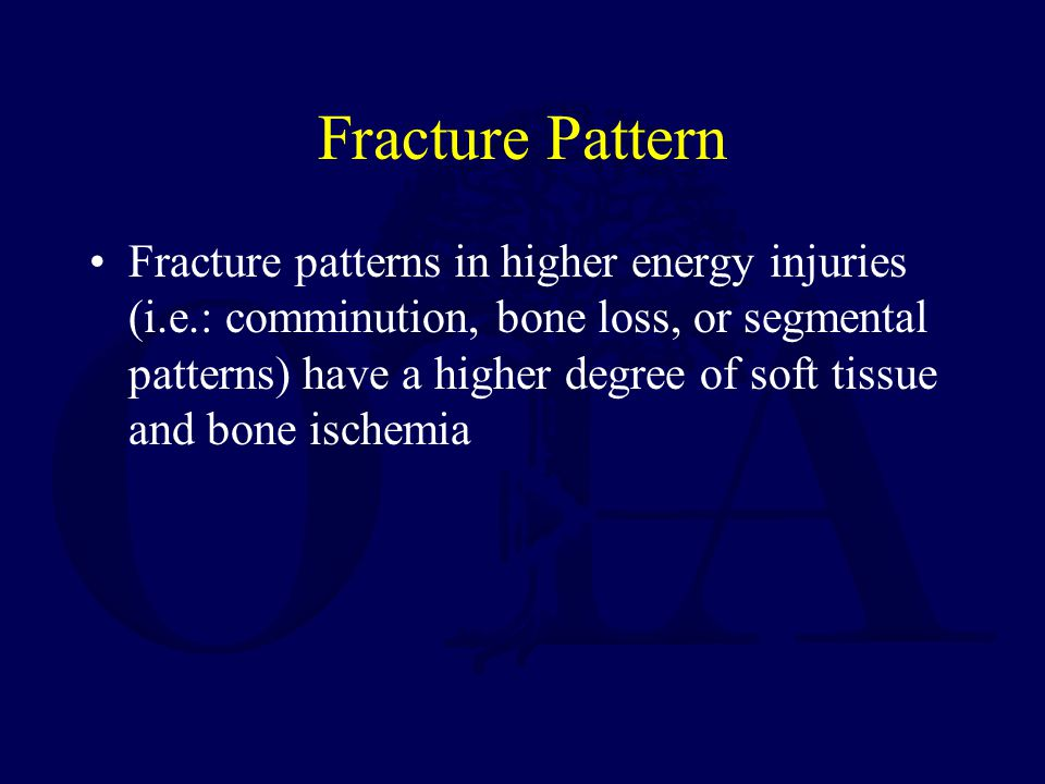 Fracture Pattern