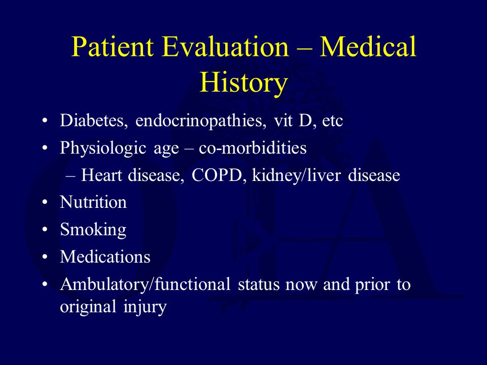Patient Evaluation – Medical History