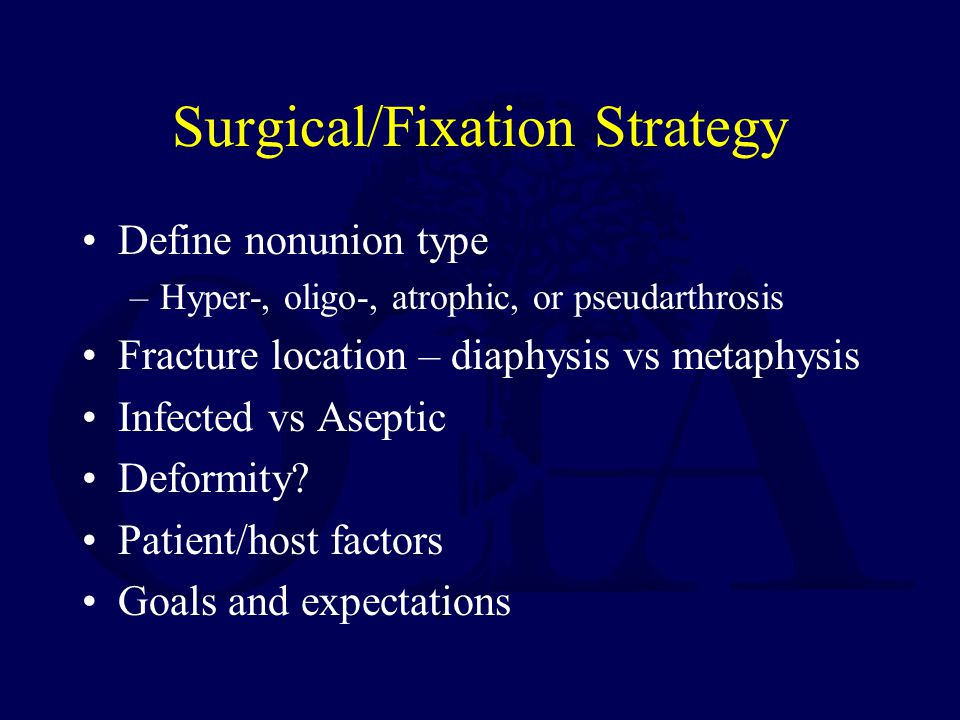 Surgical/Fixation Strategy