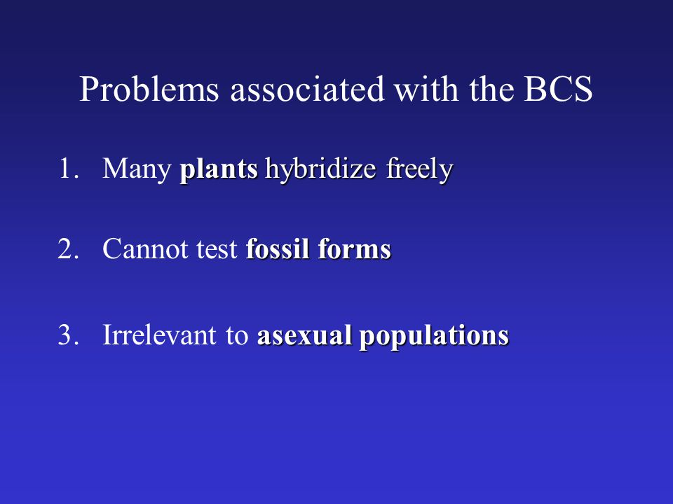 Problems associated with the BCS