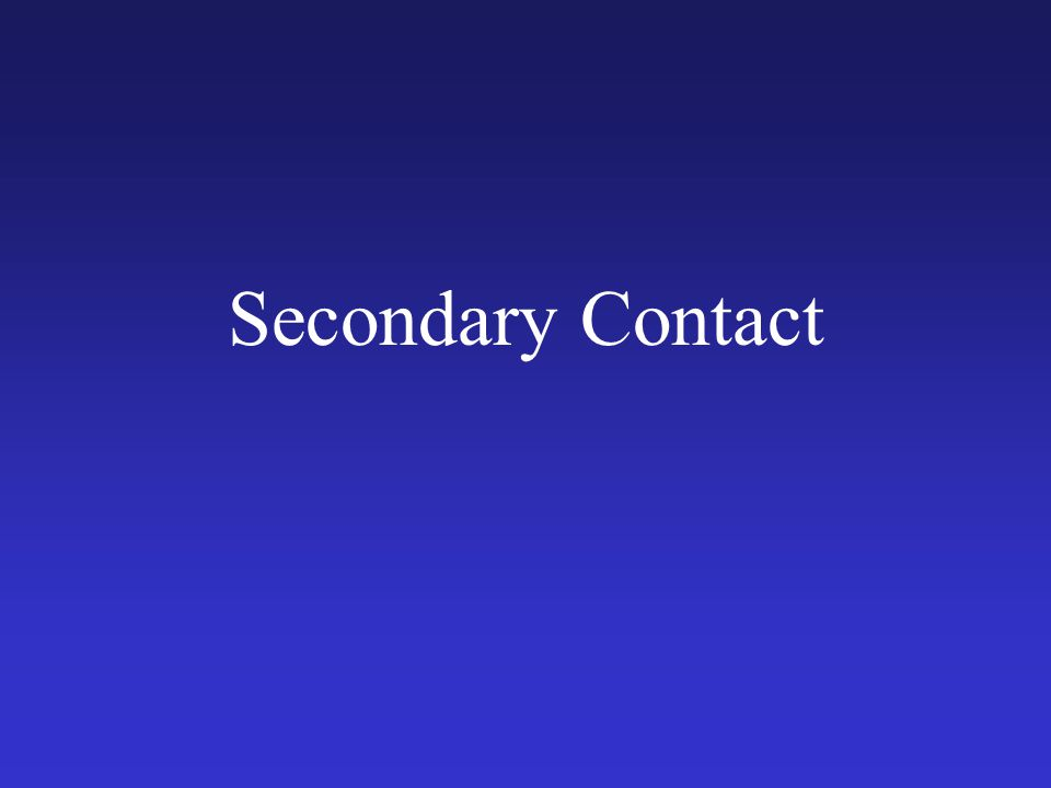 Secondary Contact