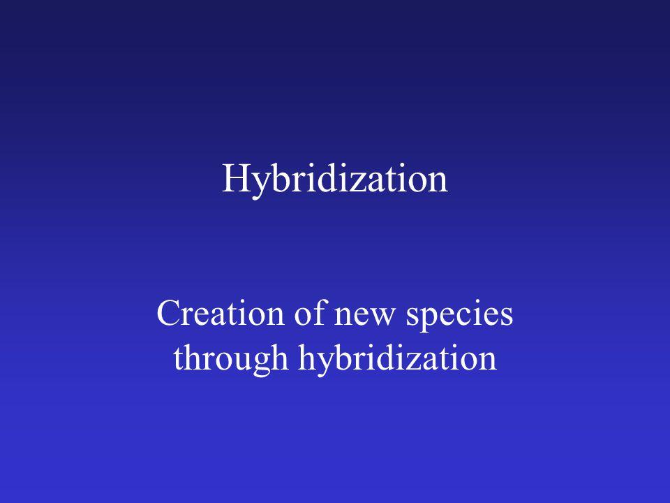 Creation of new species through hybridization