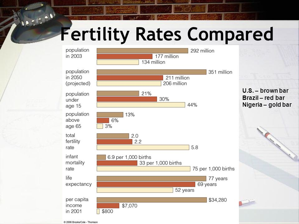 Fertility Rates Compared