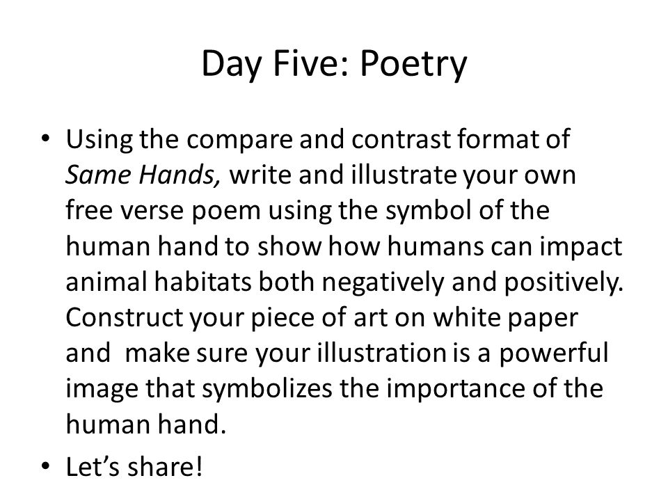 Day Five: Poetry