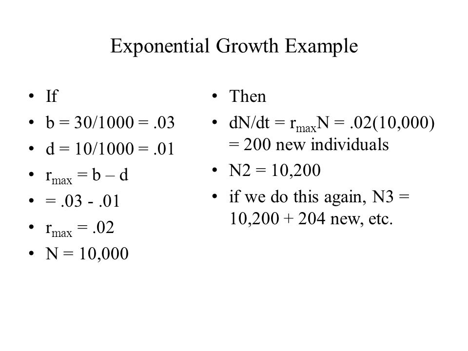 Exponential Growth Example