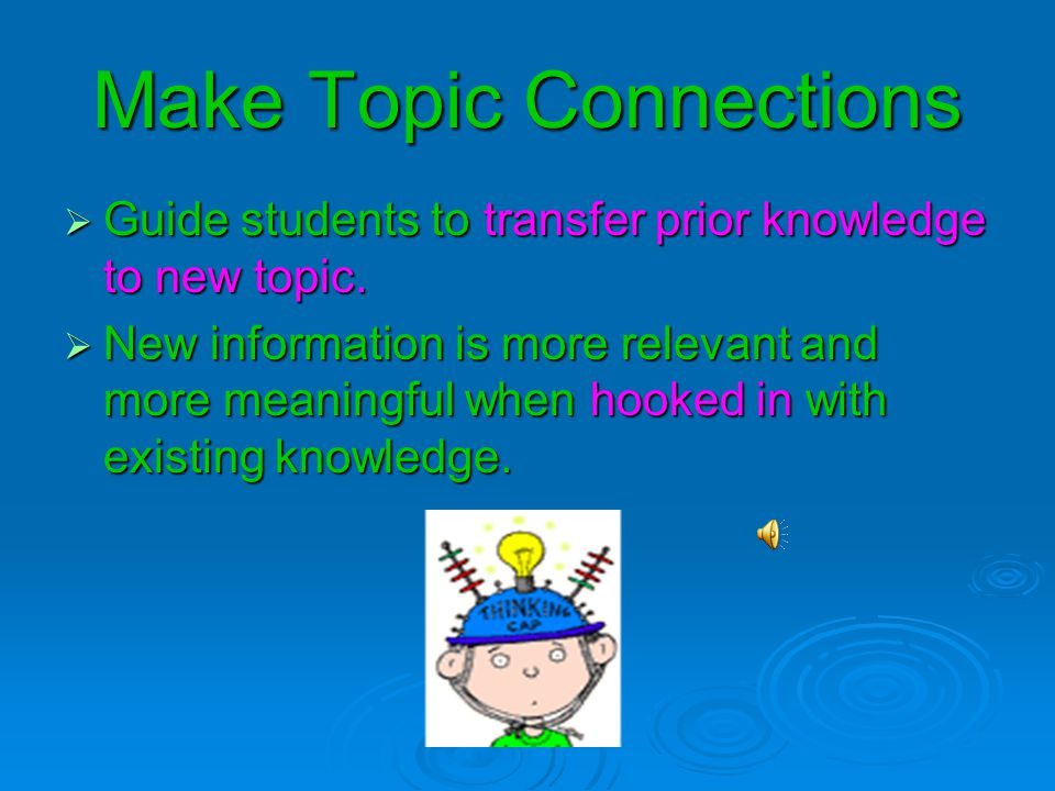 Make Topic Connections