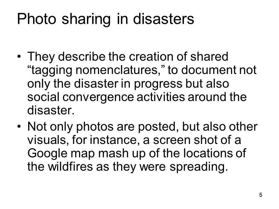 Photo sharing in disasters