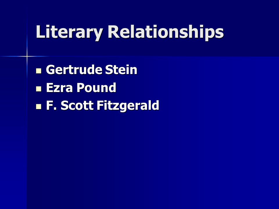 Literary Relationships