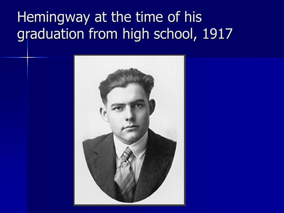 Hemingway at the time of his graduation from high school, 1917