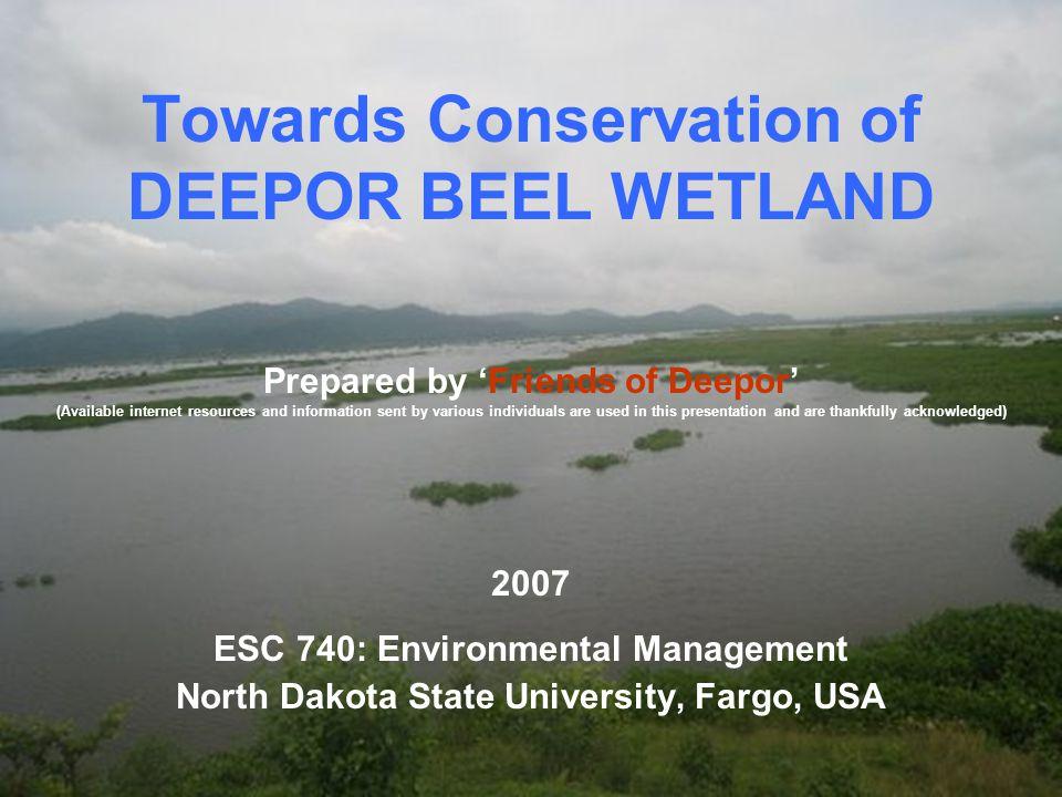 Towards Conservation of DEEPOR BEEL WETLAND