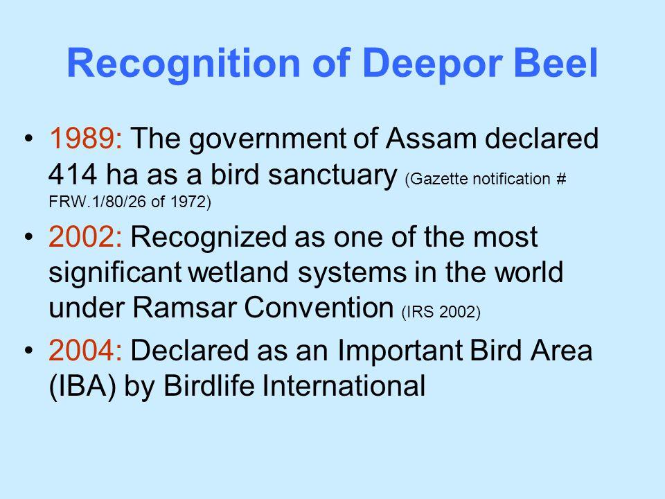 Recognition of Deepor Beel