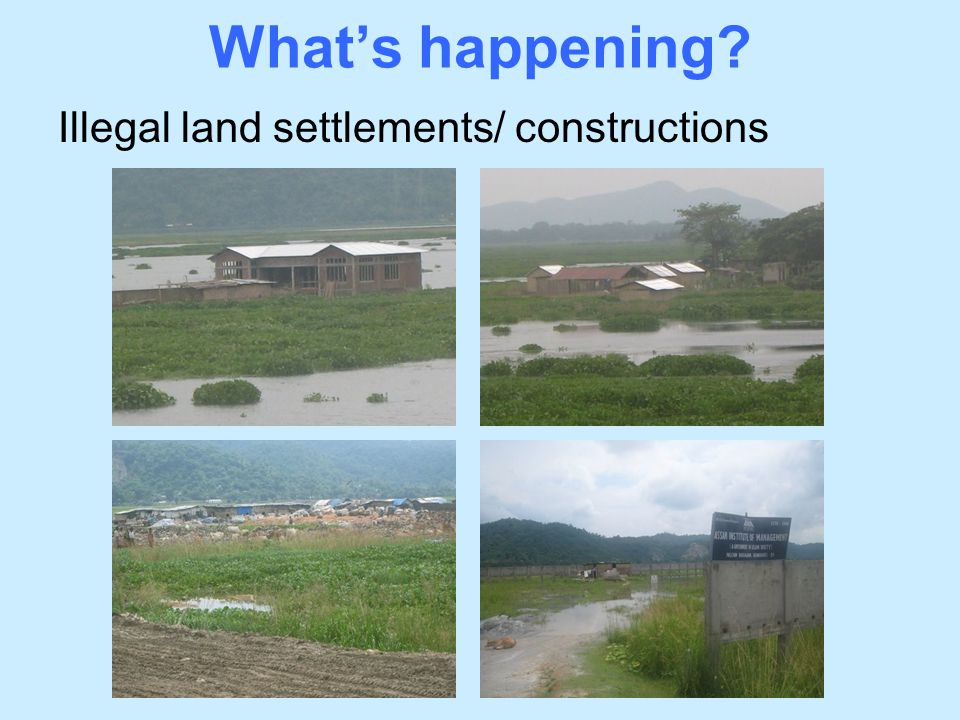 What's happening Illegal land settlements/ constructions